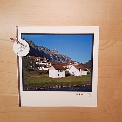 Fotokarte Trauer Kloster Muotathal Sommer Quadrat