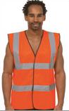 Adult Printed Sleeveless Hi-Vis Safety Waistcoat