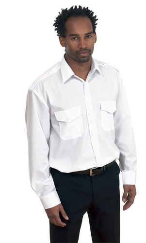Embroidered Mens Classic Pilot Shirt