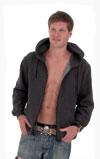 Unisex Zipped Front Hooded Sweatshirt