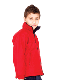 Embroidered Unisex Childrens Reversible Fleece Jacket