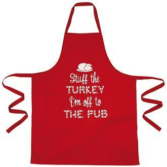 "Christmas apron - ""Stuff the turkey"""