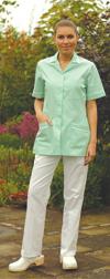 Ladies Healthcare Striped Zip Front Tunic