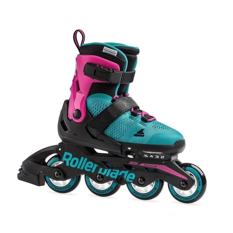 Детские раздвижные ролики Rollerblade Microblade G Pink/Emerald Green
