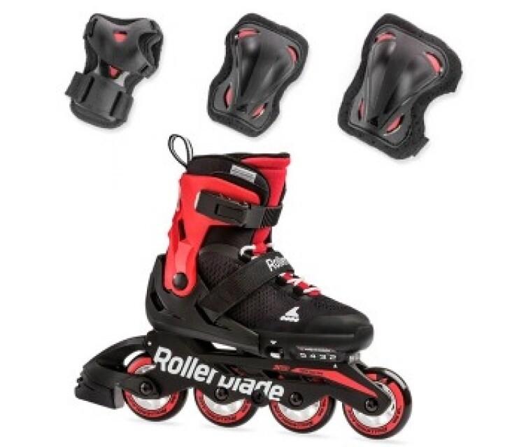 Комплект детских роликов Rollerblade 19 COMBO Black/red