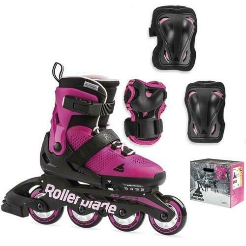 Комплект детских роликов Rollerblade 19 COMBO G pink/bubblegum