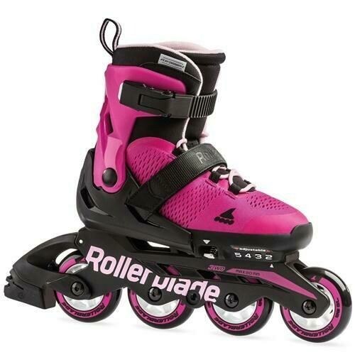 Детские раздвижные ролики Rollerblade 19 MICROBLADE  pink/bubblegum