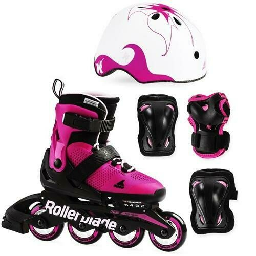 Комплект детских роликов Rollerblade 19  CUBE G pink/bubblegum