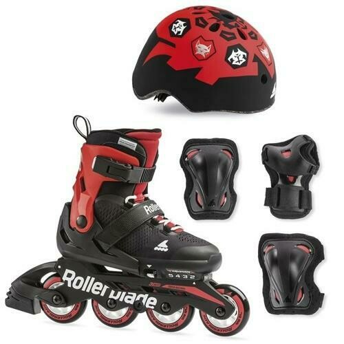 Комплект детских роликов Rollerblade 19 CUBE Black/red