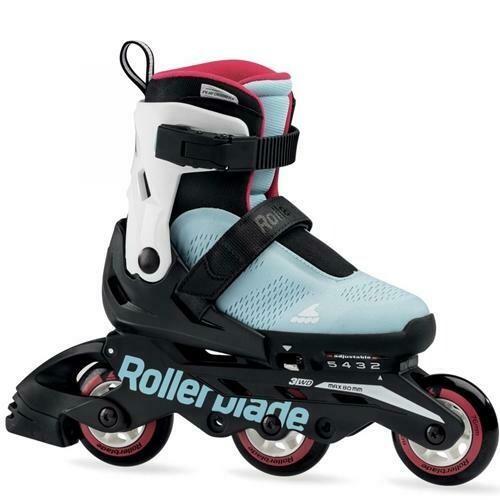 Детские раздвижные ролики Rollerblade 20 MICROBLADE FREE 3WD  military ice blue/raspberry