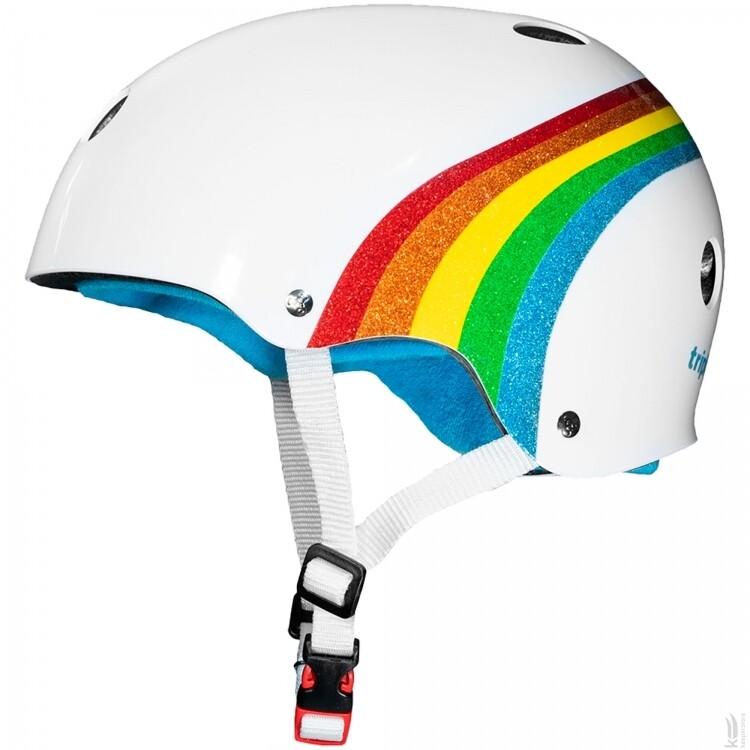 Шлем Triple Eight The Certified Sweatsaver White Rainbow Sparkle