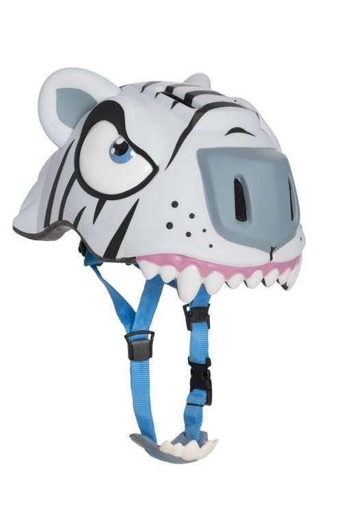 Детский шлем с регулировкой Crazy Safety - Белый Тигр