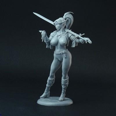 Female Elf Mercenary (explicit version)