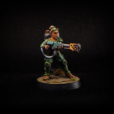 Female Flamethrower