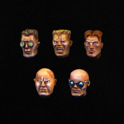 Male Combat Heads 01