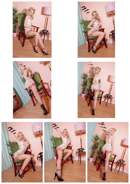 (7 Prints) Rachel Frances Pink Bombshell