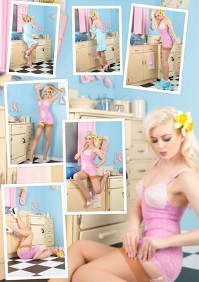 (7 Pinup Prints) Frankii Wilde kitchen set