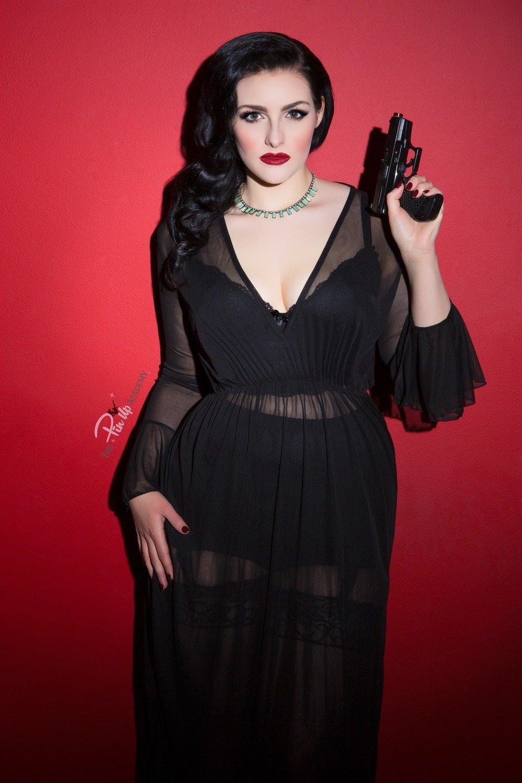 Sophia Black leopard set