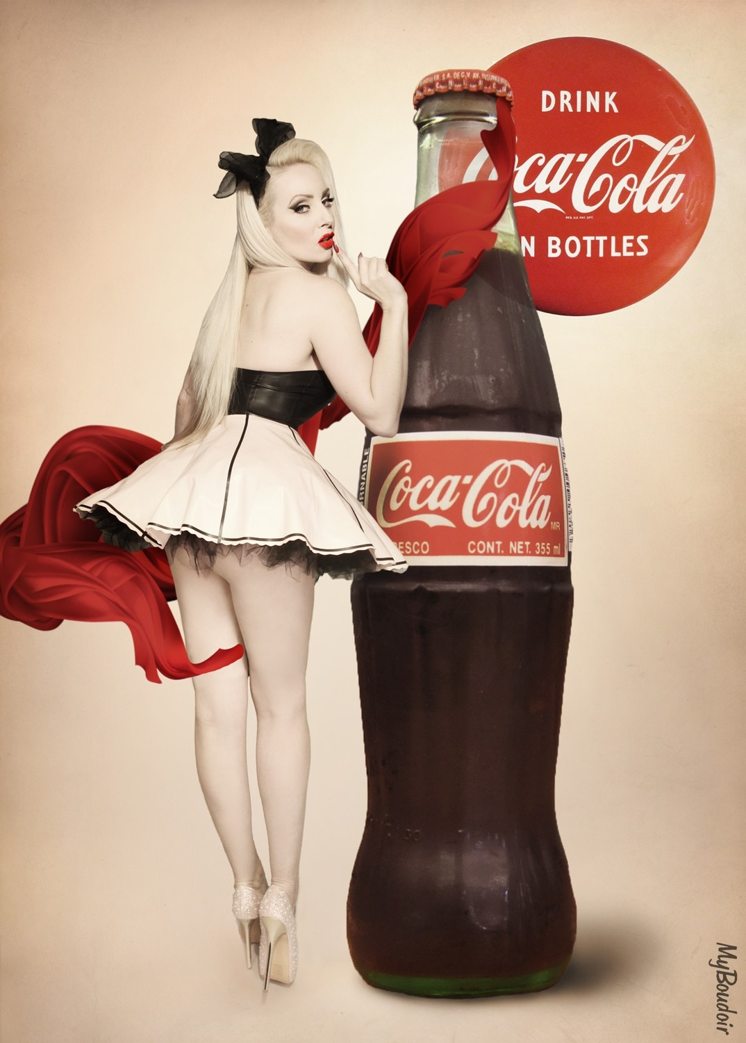 Pinup Coke Bottle
