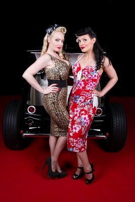 October DiVine and Miss Lillian Love Peterborough Hot Rod