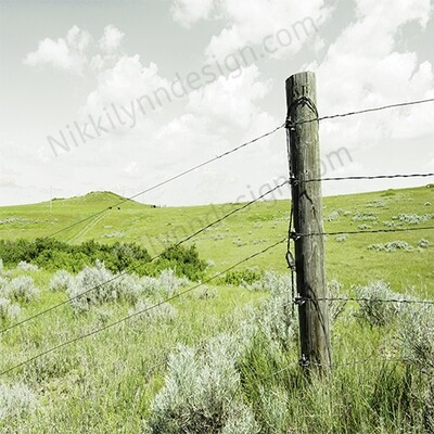 Farmhouse Rural Fence Post Square Print Up To 16x16 Digital Download