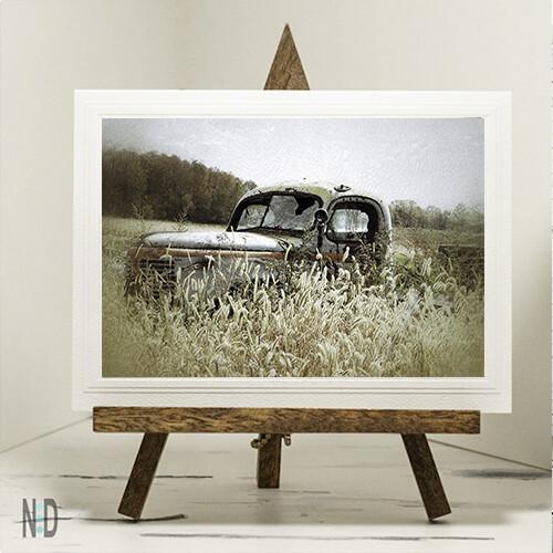 Autumn Pleasure Old Truck Print