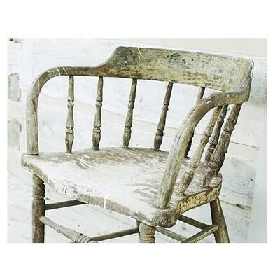 Spindle Chair Antique Farmhouse Style Wall Art Decor Print