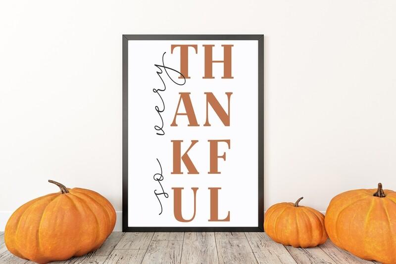 So Very Thankful Fall Thanksgiving Print