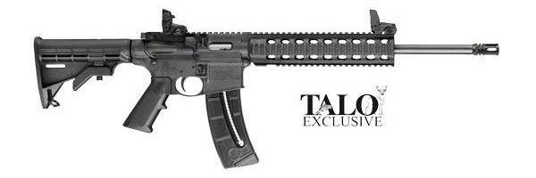 S&W M&P 15-22 Rifle, 22LR, 15RD, Black, Magpul MBUS Sights (#150781)