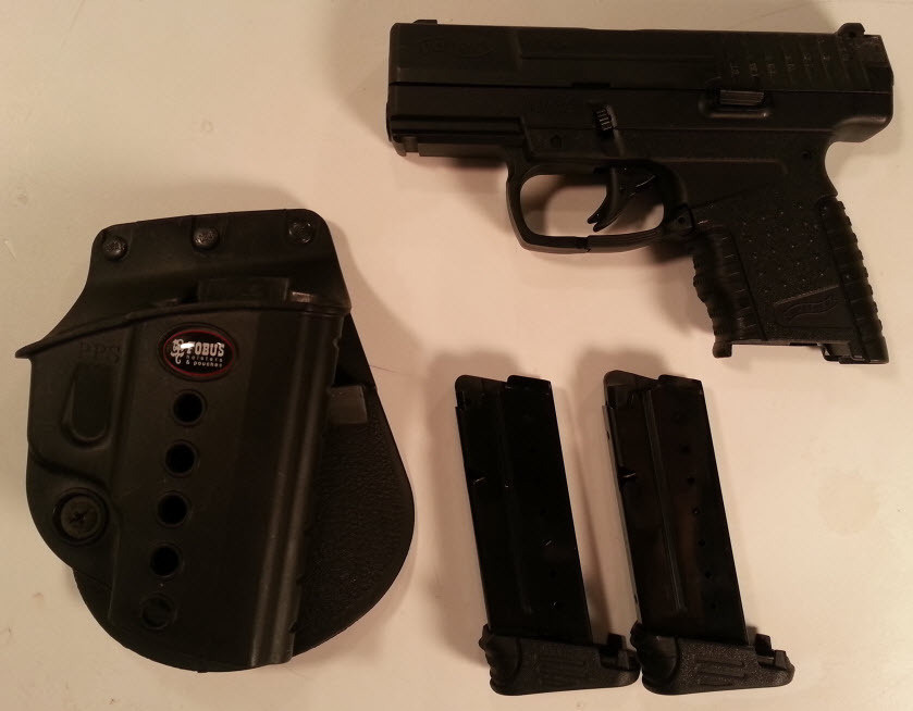 *USED* Walther PPS Pistol, 9mm, 6RD, Black (#2796333)