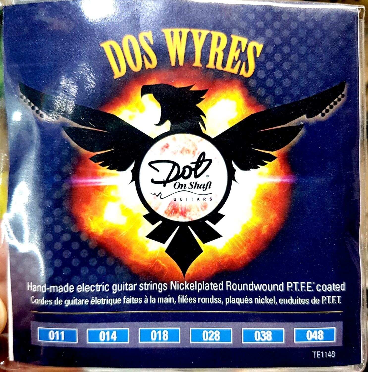 """5 Packs Bulk """"Dos Wyres"""" Nickel Plated  PTFE Coated 11-48 Electric Hand Wound"""