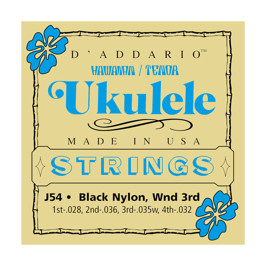 4 Pack Bulk D'Addario J54 Tenor Ukulele Strings