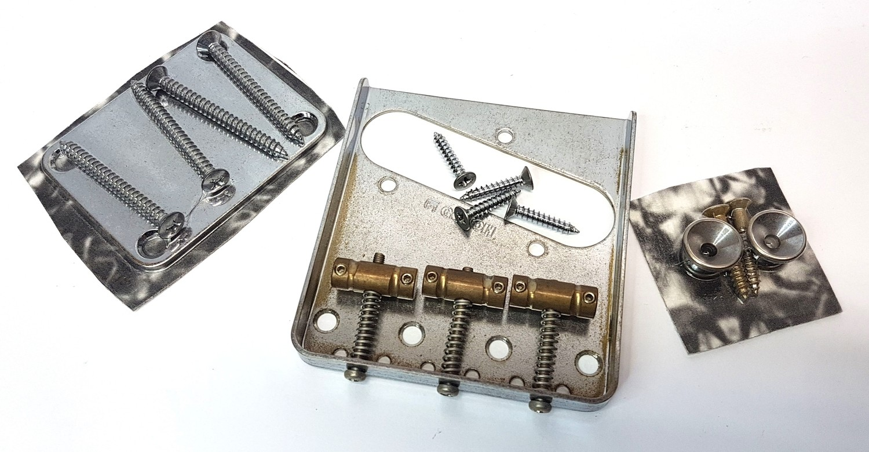 Gotoh Aged Relic BRIDGE for Fender Telecaster Tele Nickel +Brass TB-5131-007