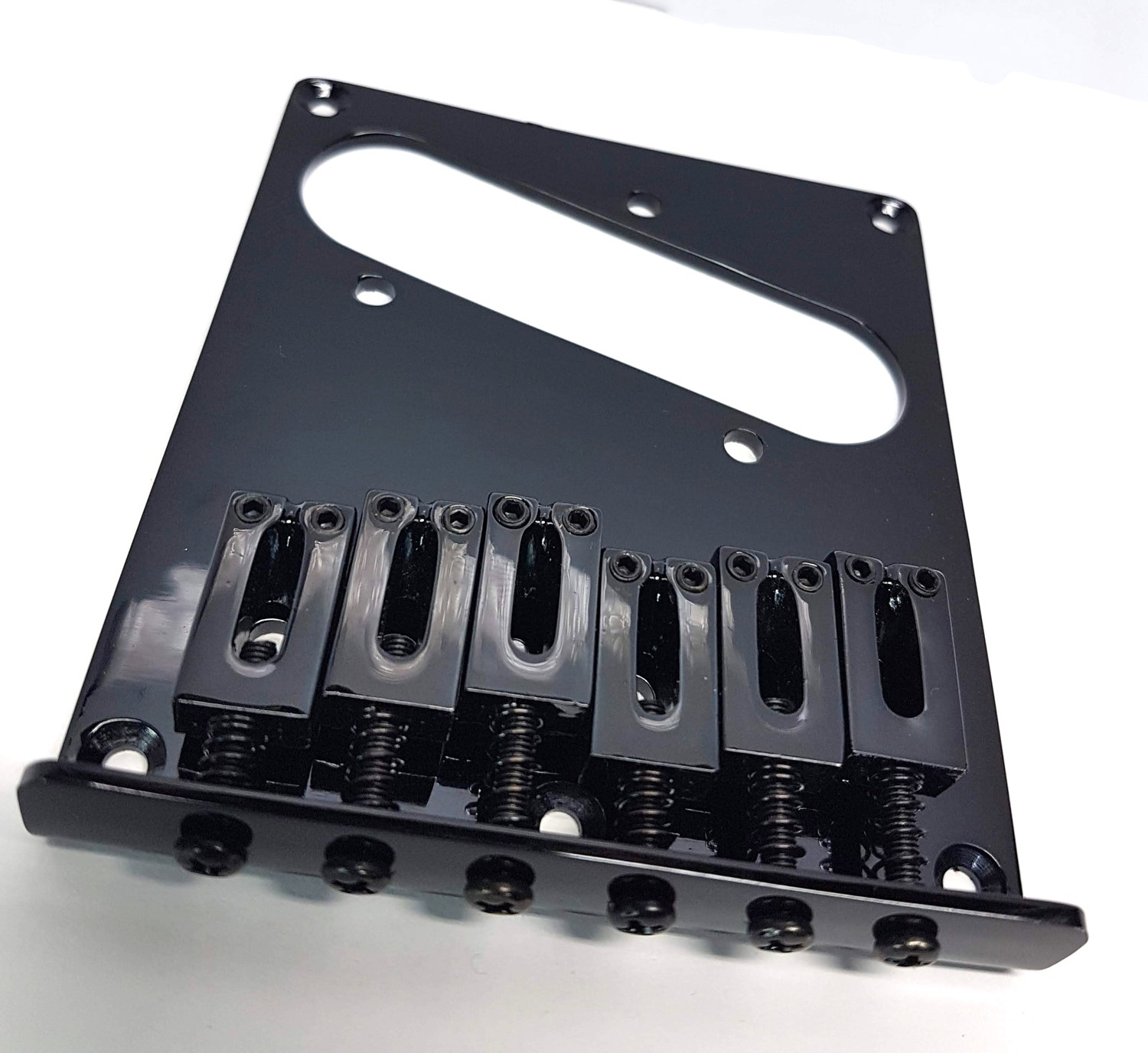 Telecaster Bridge Single Coil Black Modern Saddles