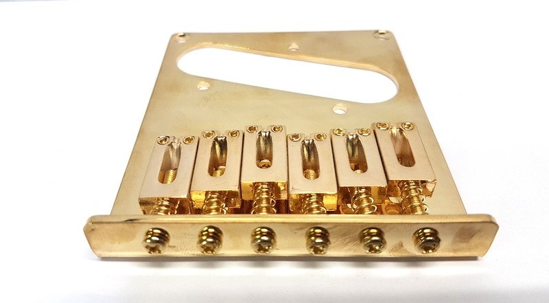 Telecaster Bridge Single Coil Gold Modern Saddles