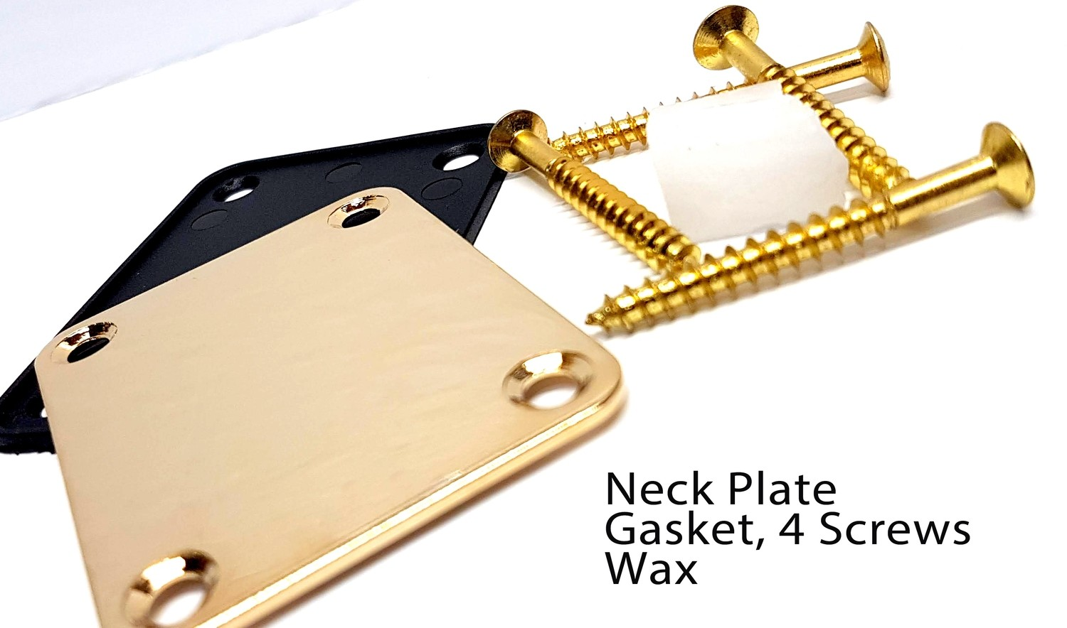 Gold Neck Plate, Neck Screws, Gasket and Wax