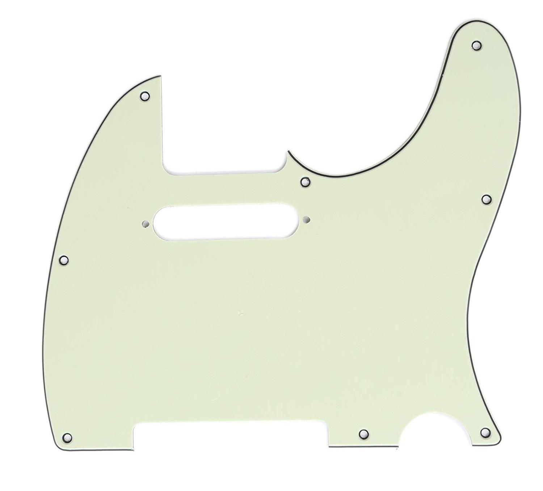 Brio 8 Hole Guitar Tele® Pickguard RH  3 Ply Mint