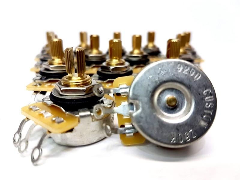 Genuine CTS Tone  Volume 250K Split Shaft Pots for Fender Strat or Tele