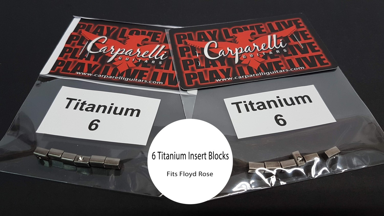 Carparelli Titanium Alloy 6 String Lock Insert Blocks ( Fits Floyd Rose )