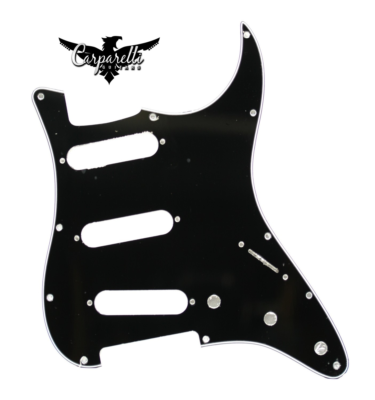 Carparelli SSS Strat® Pickguard 11 Holes 3 Ply Black