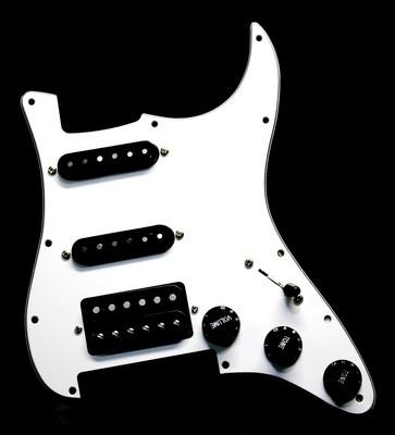 Brio HSS White Floyd Rose® Strat® 11 Hole Fully Loaded Pickguard White