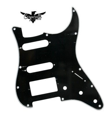 Brio HSS Strat® Pickguard 11 Holes 3 Ply Black