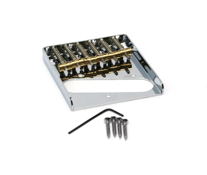 Chrome Tele® Vintage Style Bridge with 6 Individual Brass saddles