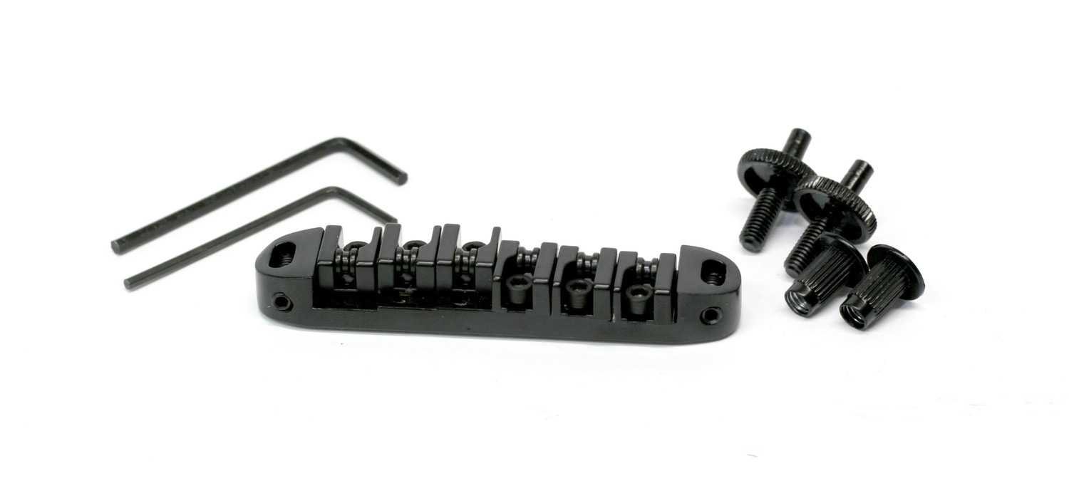 Brio Guitar US Locking Roller Bridge Black