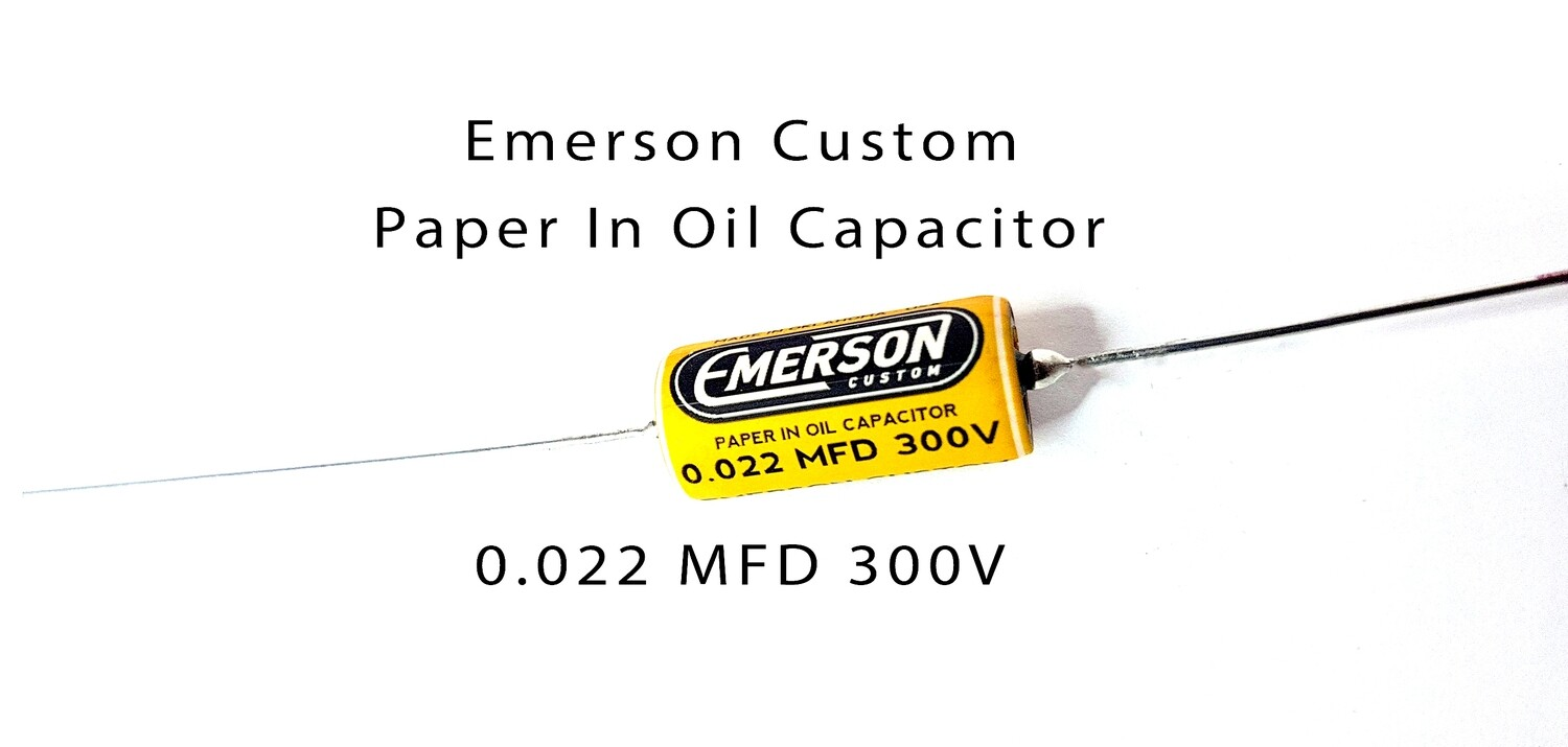 1 x Emerson Paper in Oil Capacitors - 0.022uf 300v (yellow) 2019 Classic