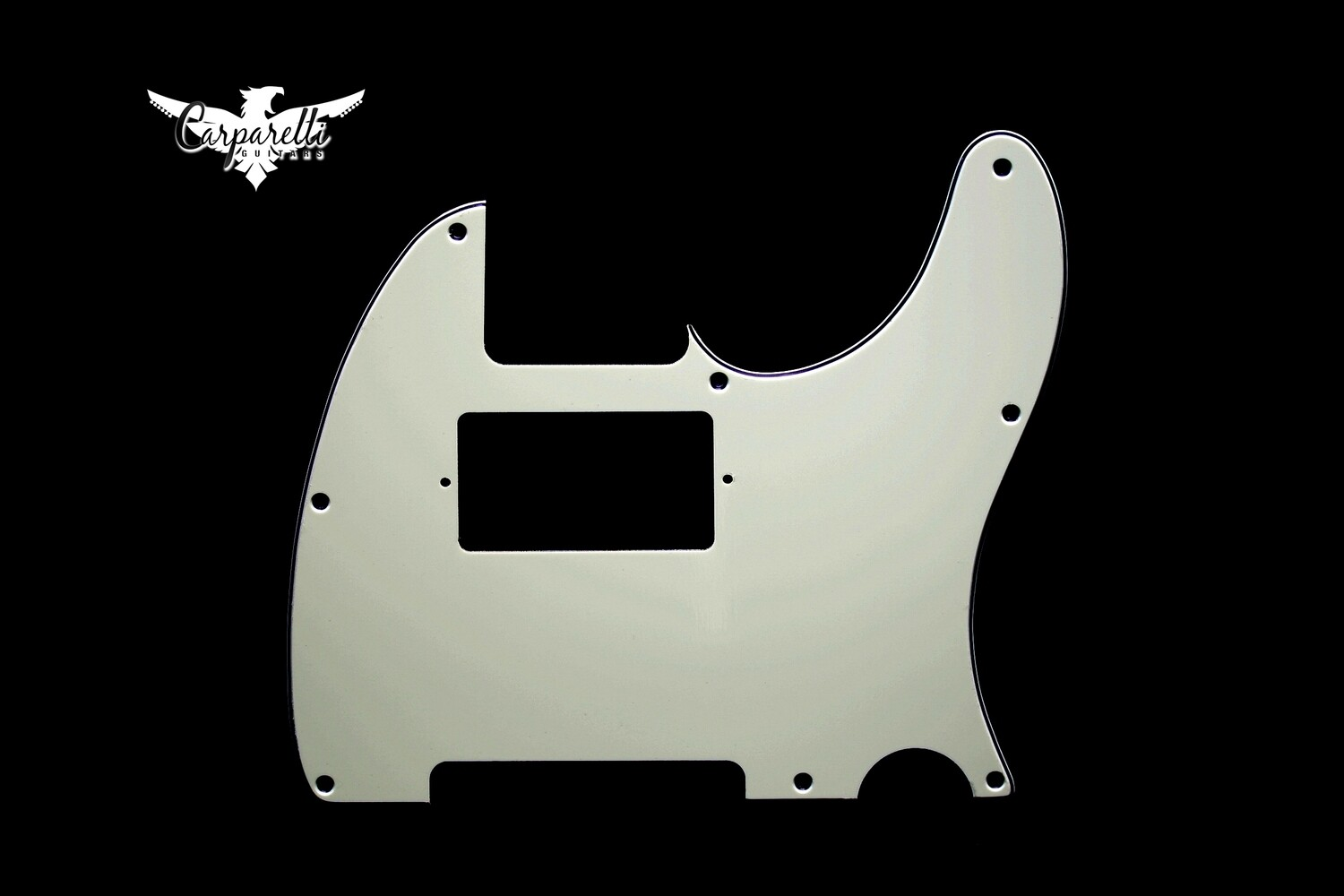 Carparelli Tele® Humbucker 8 hole 3 ply Pickguard Mint