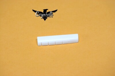 Carparelli Guitar Slotted Cut Bone Nut For Les Paul Gibson/Epiphone Guitars 44 x 5 x 9mm