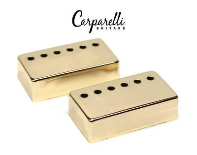 Carparelli Metal Humbucker Cover 52mm Pair Set Gold