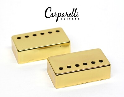 Carparelli Metal Humbucker Cover 50mm Pair Set Gold