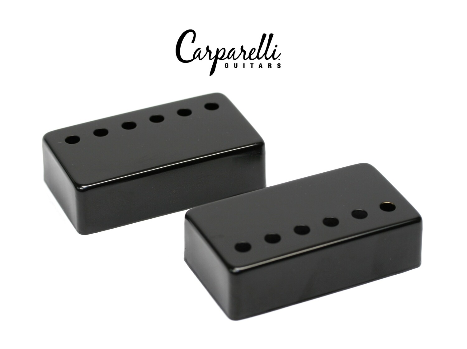 Carparelli Metal Humbucker Cover 50/52mm Pair Set Black